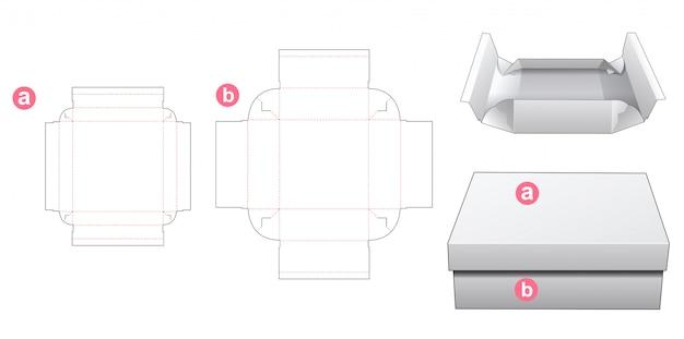 Отсутствие клеевой коробки с шаблонным дизайном крышки