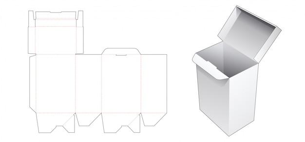 Шаблон автоматической высечки подарочной коробки