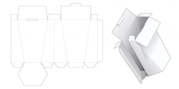 Шаблон высечки подарочной коробки