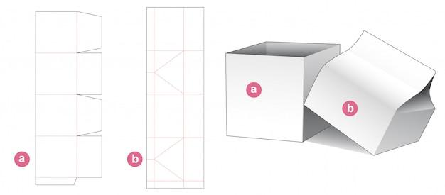 Складная подарочная коробка и шаблон высечки