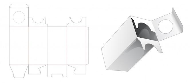 Дизайн шаблона высечки косметической упаковки