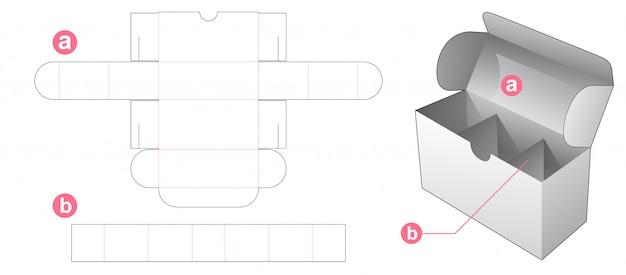 Коробка с вкладышем делителя высечки шаблон