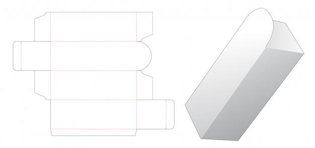 Упаковочная коробка для косметического шаблона высечки