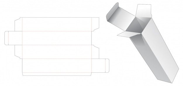 Шаблон высечки упаковочной коробки высечки