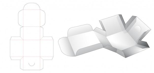 Обернутая упаковочная коробка высечки шаблона