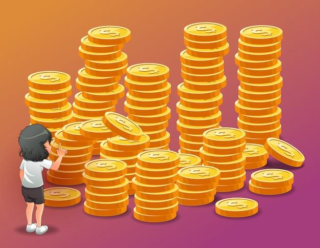彼女はお金が欲しいのです。
