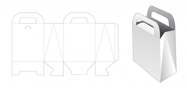 Картонная сумка с держателем для шаблона высечки