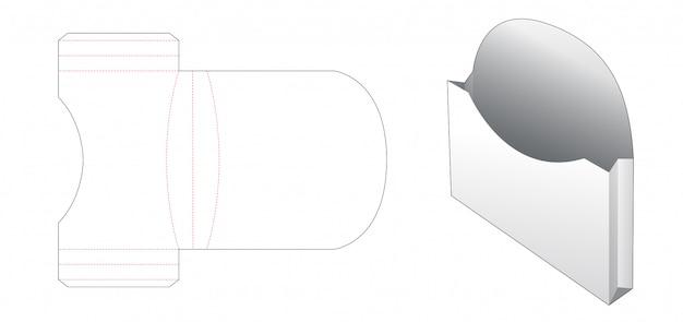 Картон хлебный контейнер высечки шаблон