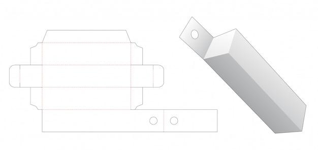 ハングホールダイカットテンプレート付きの長いパッケージ