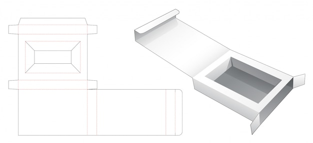 インサートサポーターダイカットテンプレート付きの小売パッケージボックス