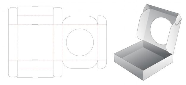 Коробка для торта с круглым окном