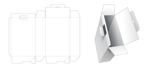 ロックポイントダイカットテンプレート付きの段ボール梱包箱