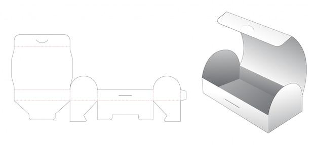 胸型スナックボックスダイカットテンプレート