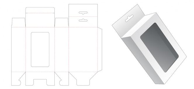 Подвесная упаковочная коробка высечки шаблона