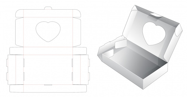 Упаковка для хлебобулочных изделий с шаблоном высечки сердца