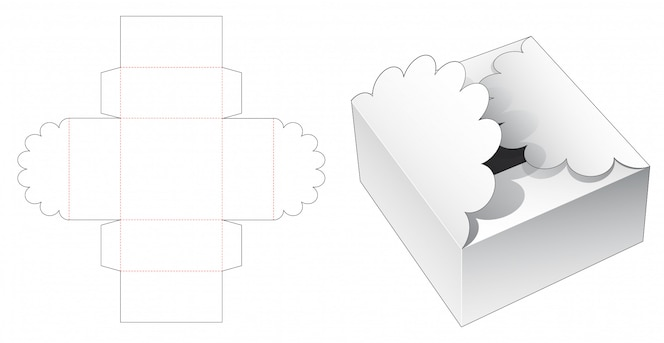 Шаблон упаковки подарочной коробки высечки