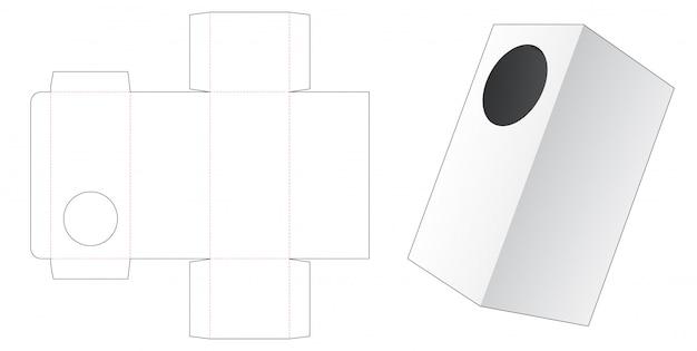 Подарочная коробка с круглым окном