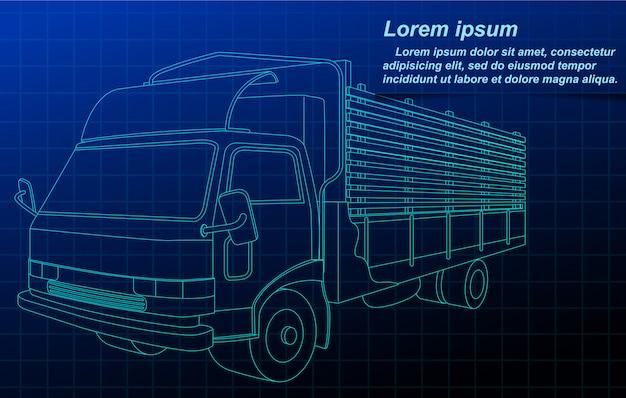 Эскизный грузовик