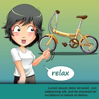 自転車に乗ろう。