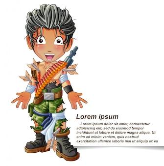 兵士のキャラクター。