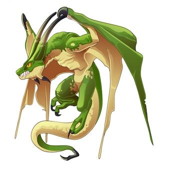 ドラゴンズは漫画風の幻想的な動物です。