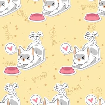 シームレスに猫のパターンを供給します。