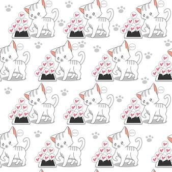 シームレスな小さな猫と携帯電話のパターン。