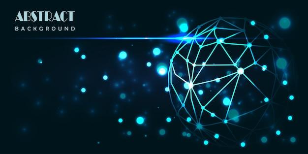Абстрактный фон цифровых технологий мира.
