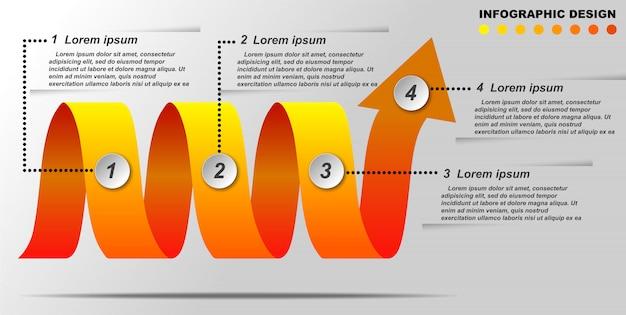情報グラフィックテンプレート。