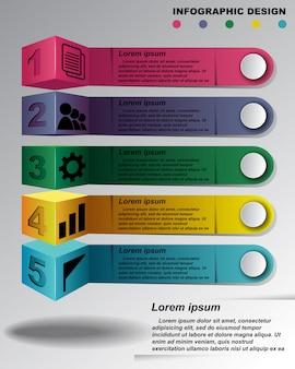 情報グラフィックデザインテンプレート。