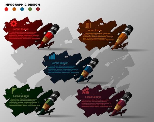 Элемент шаблона дизайна инфографики.