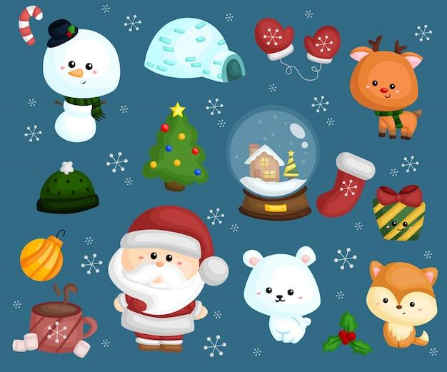クリスマスベクトルセット