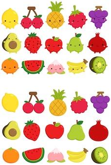 Милая фруктовая иконка
