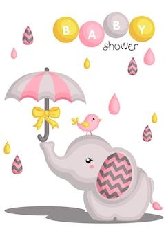 象の赤ちゃんの女の子のシャワー