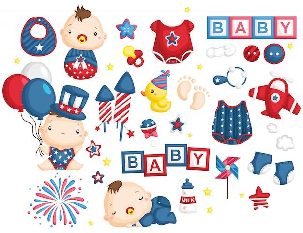 独立記念日の赤ちゃん