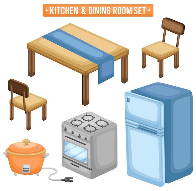 キッチンとダイニングルーム