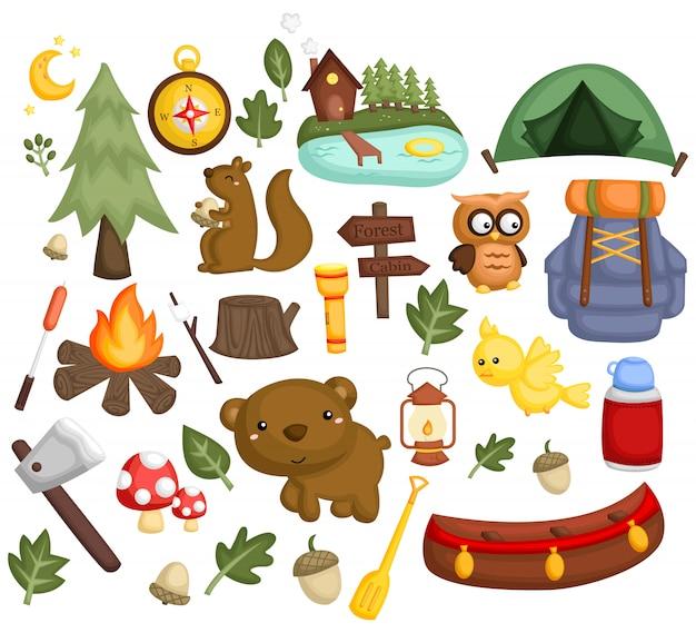 キャンプ画像セット