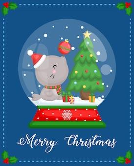 シンプルシールクリスマスカード