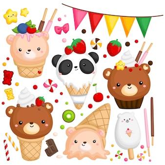 Медведь мороженое