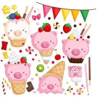 Свинья мороженое