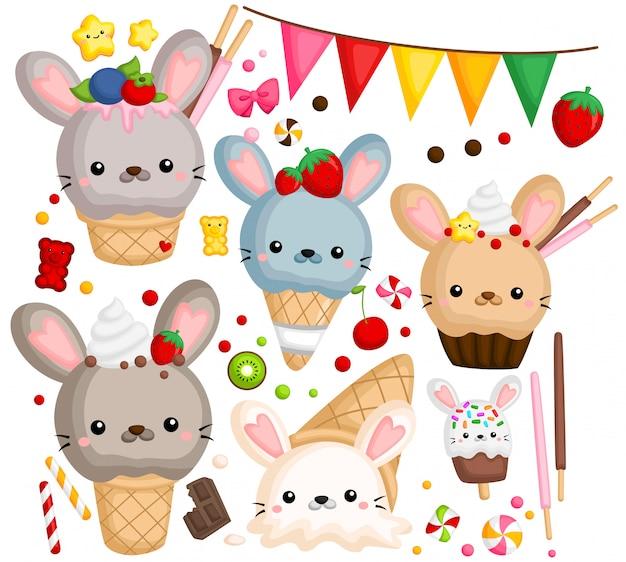 Кролик мороженое