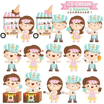 アイスクリーム売り手