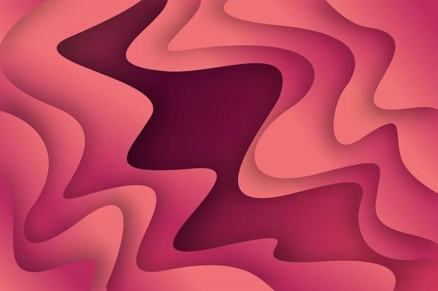 ピンクのペーパーカットの背景