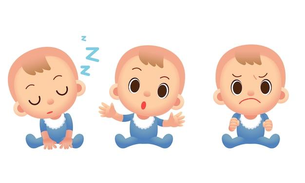 Симпатичные персонажи мальчика