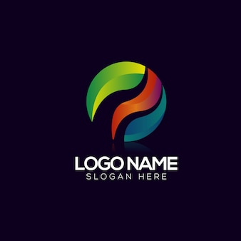 抽象的なサークルのロゴのテンプレート