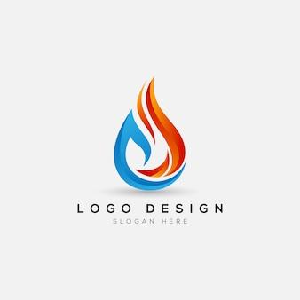 抽象的な火のロゴのテンプレート