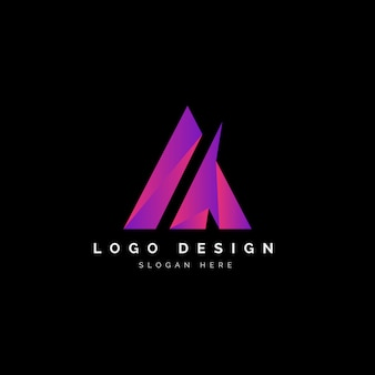 カラフルなロゴの抽象的なデザインの手紙