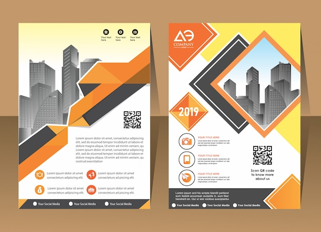Обложка брошюры макет листовка плакат фон годовой отчет