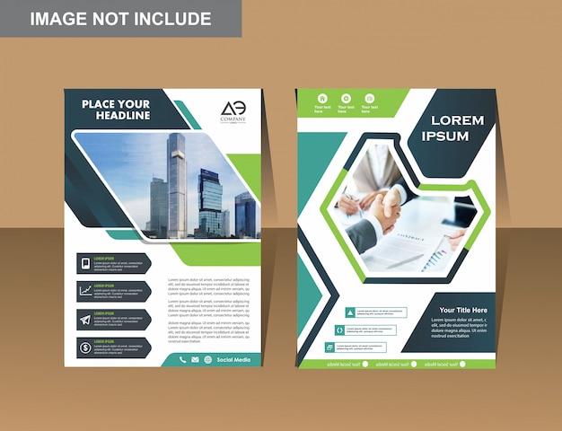 Вектор бизнес листовки дизайн шаблона компании профиль