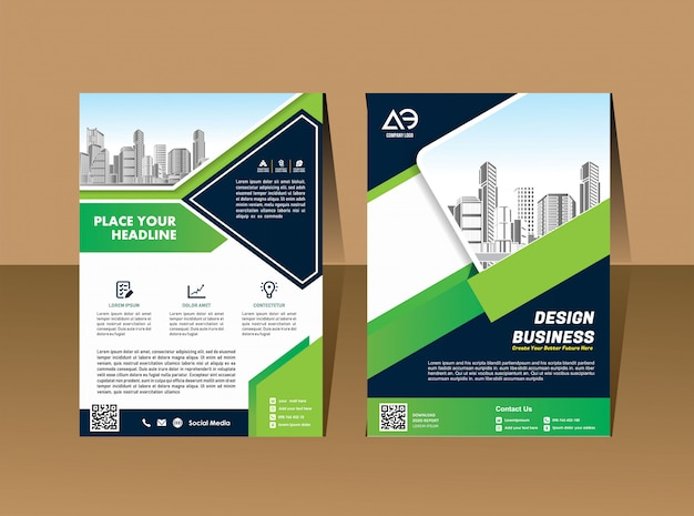 ビジネスベクトルを設定パンフレットテンプレートレイアウトカバーデザイン